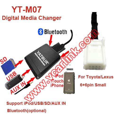 Digital Media Changer YT-M07_Guangzhou Yatour Electronics