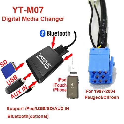 Fabulous Yt M07 Rd3 Yatour Digital Mp3 Player For 97 04 Peugeot Citroen Wiring 101 Hemtstreekradiomeanderfmnl